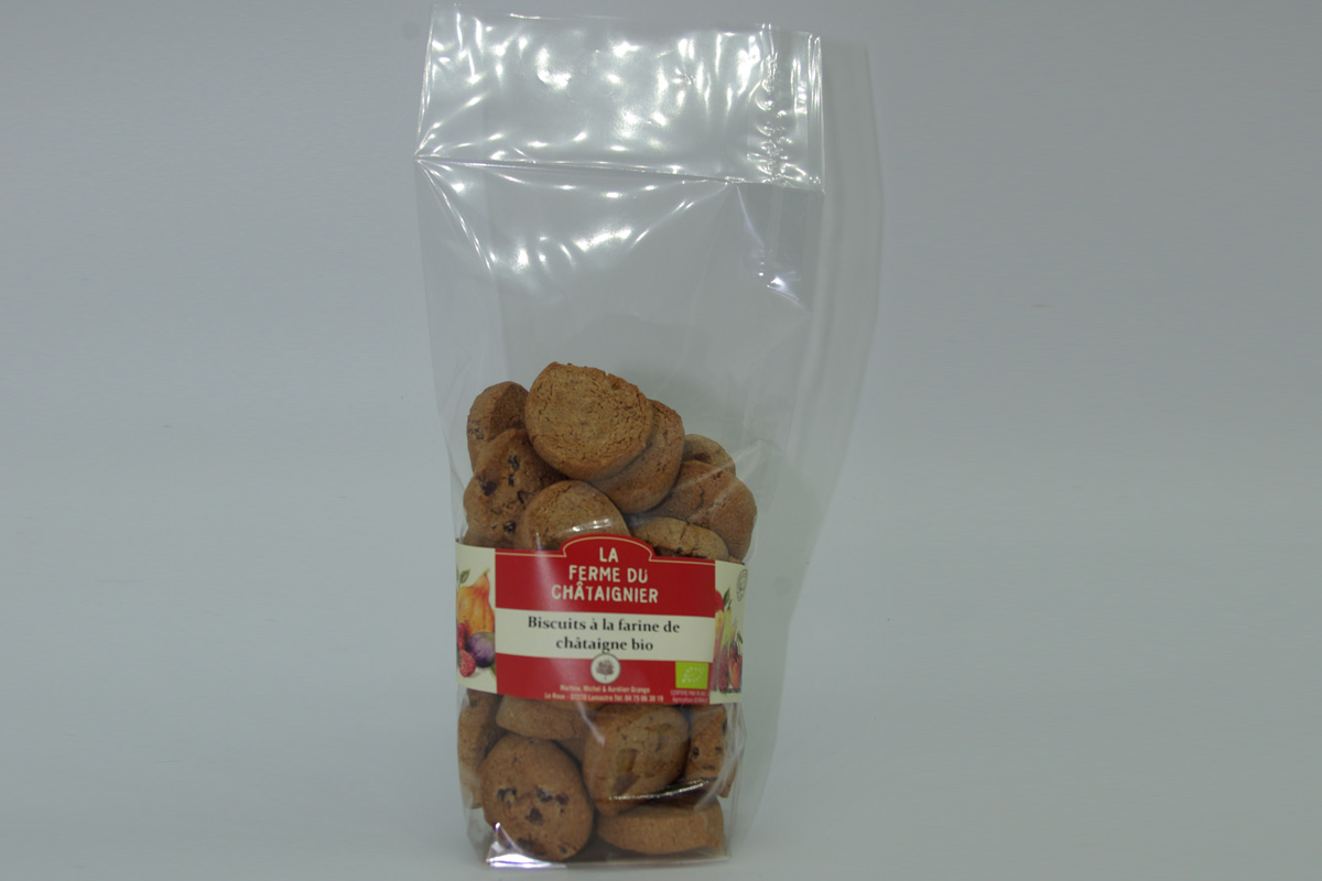 Biscuits à la farine de châtaigne Bio