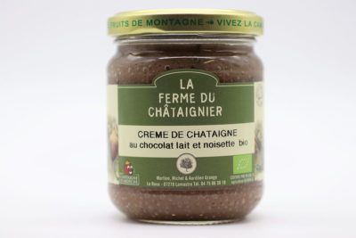 Crème de châtaigne au chocolat lait et noisette