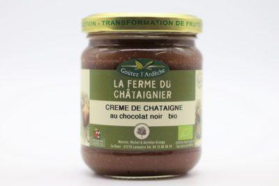 Crème de châtaigne au chocolat noir
