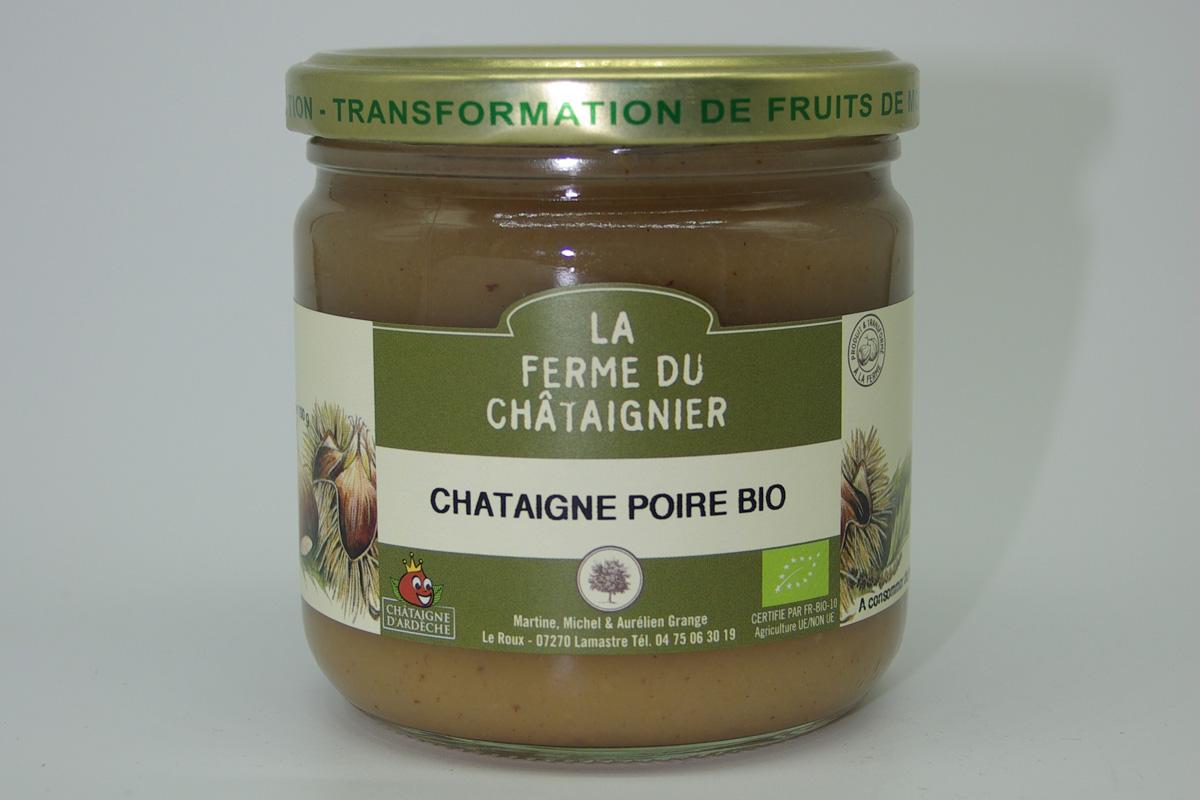 Crème de châtaigne et poire Bio