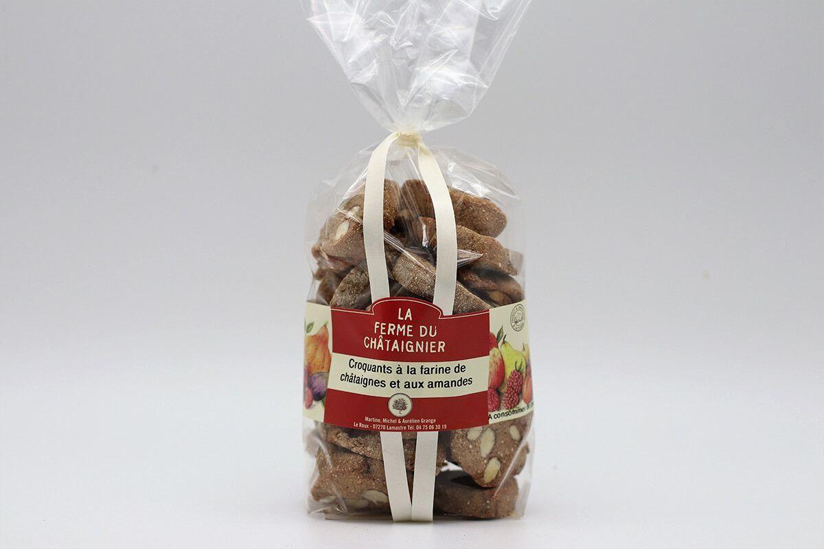 Croquants farine de châtaignes et aux amandes